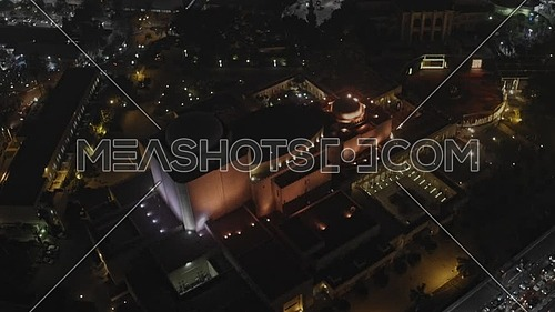 Reveal Shot for Cairo Opera House and Saad Zaghloul Statue at night  - Novermber 2018