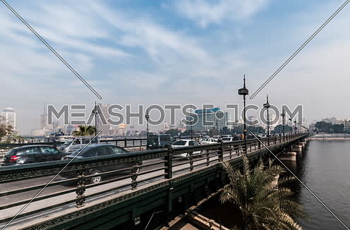 Zoom Out Shot for Qasr Al Nile Bridge at Day