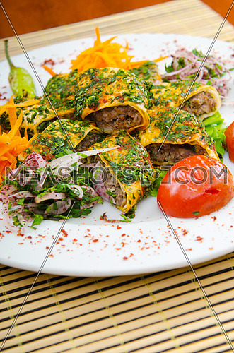 Tasty kebabs served in pita bread