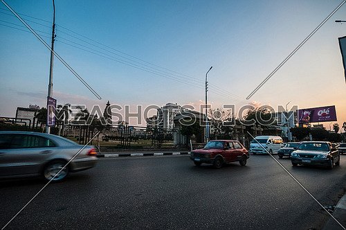 Shot for Traffic and Le Baron Palace at Salah Salim Street from sunset