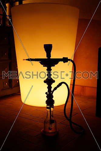 Arabic Hookah Silhouette also Known as Sheesha and Argileh