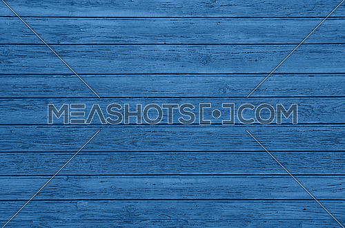 Close up background texture of blue vintage painted wooden planks, classic rustic style wall panel