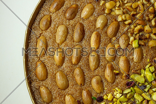 Basbosa Oriental sweets with Almonds and nuts