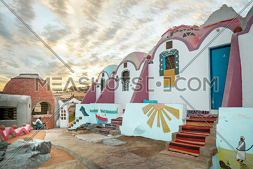 Coloreful House from Nubia Aswan, Egypt