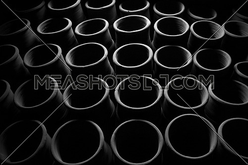 Black and White Pipes; abstract