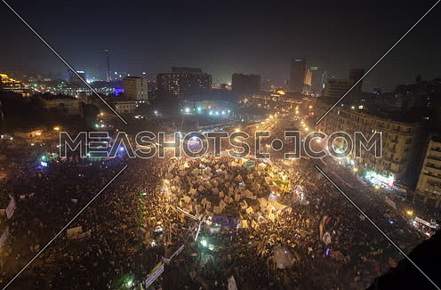 Fixed Top Shot for Tahrir Square at Night