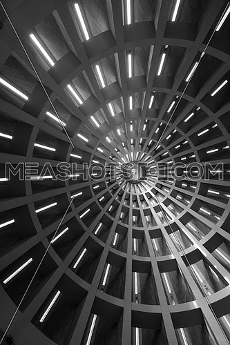 abstract church dome representing futuristic background
