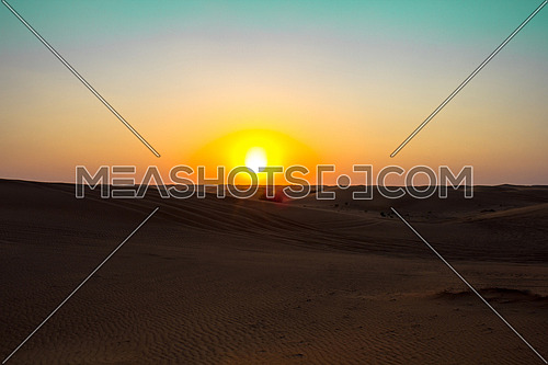 desert landscape and dunes