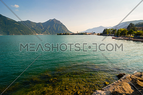 In the picture a view of Lake Iseo from the town of Lovere, Italy.