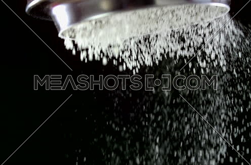 Close Up Shot for Flour Falling from a sieve