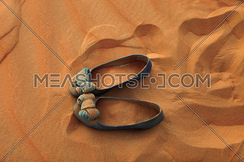 A Shoe Print in the sand,