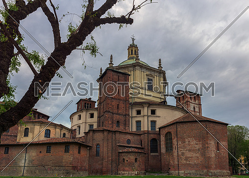 Saint Lawrence (San Lorenzo) Cathedral back side in Milan,Italy.