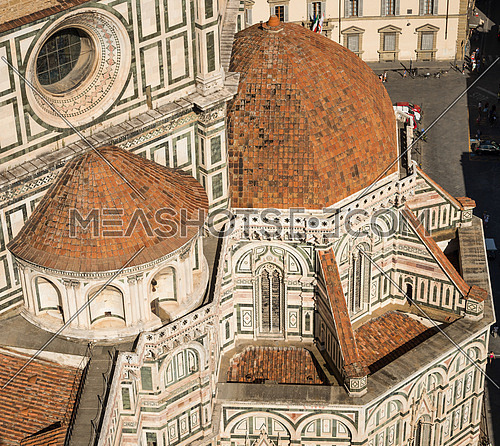 In the picture the cathedral of Santa Maria del Fiore view from the bell tower of Giotto