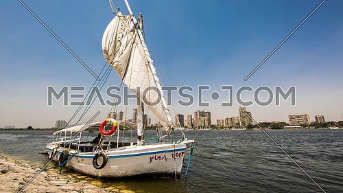 Falucca on the Nile River