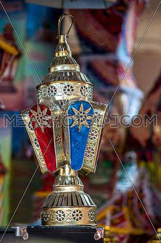 A Copper ramadan lantern also known as fanoos مظاهر شهر رمضان المبارك