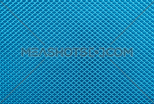 Abstract background of glossy shiny metallic vivid blue scale shape pattern