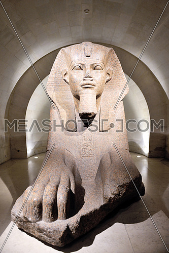 Egyptian Sphinx at louvre museum in paris