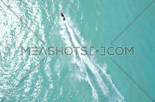 Drone Shot for a man riding Jet Ski