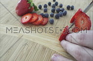 Close up views of healthy organic produce in a kitchen