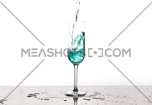 Aqua Coloured Water Splash