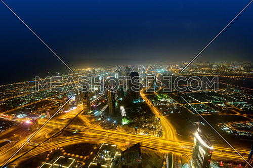Panorama of down town Dubai city - UAE