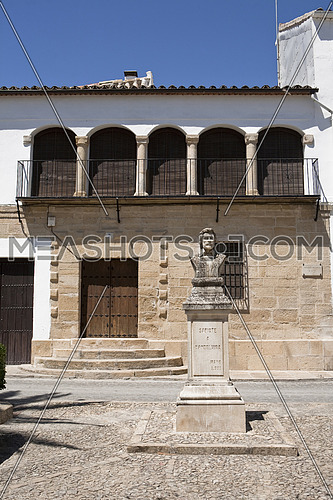 Square of Sabiote, Sculpture of Vandelvira, Sabiote, Jaen, Spain