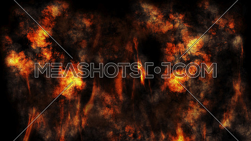Smoke And Fire Halloween Background  3D Rendering