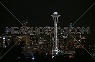 Downtown Seattle evening - Pan down