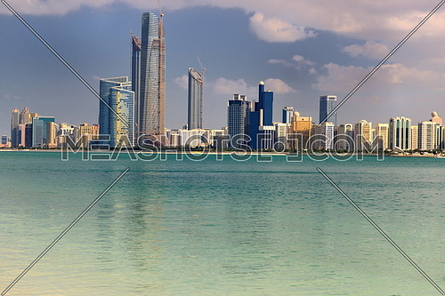 modern arabic City Abu Dhabi  Landscape and cityscape panorama