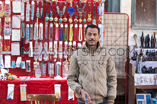 Accessories seller in Aswan market
