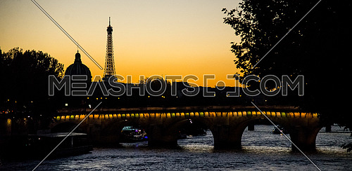 Paris eifel tower at Sun Set