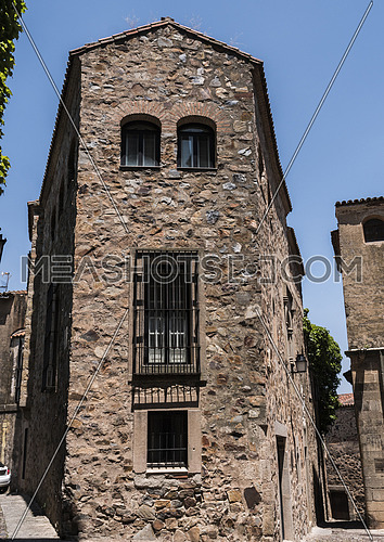 Typical house of the old town of Caceres, Spain