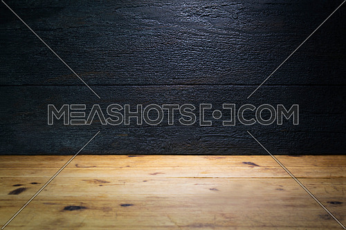 Old, Rustic, Wooden Table With Wooden Background