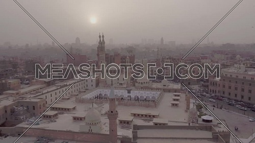 Fly Out Shot for Al-Azhar Mosque in Cairo by day
