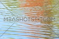 Colorful yellow, blue and red ripples and waves running on water surface, moving flow background, Full HD 1080