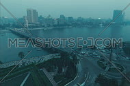 Cairo Nile View Timelapse showin kasr elnil bridge shot on 35mm