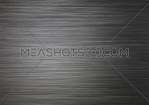 Background texture of brushed black silver, steel or aluminum metal surface