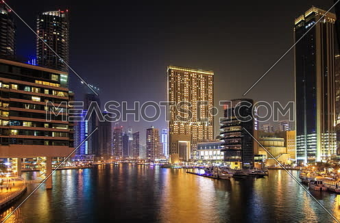 Dubai Marina at night timelapse
