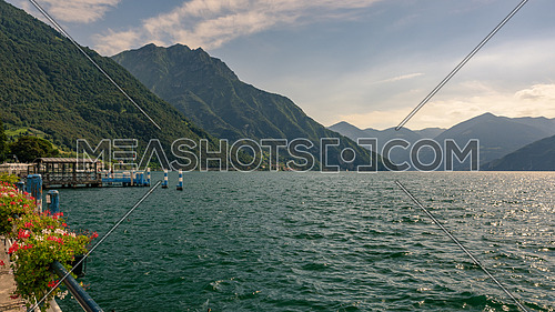 Iseo lake panorama near Brescia