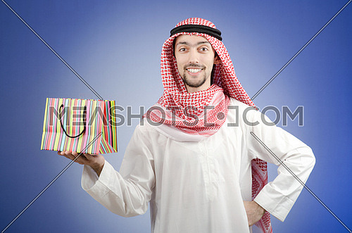 Arab with the gift bags