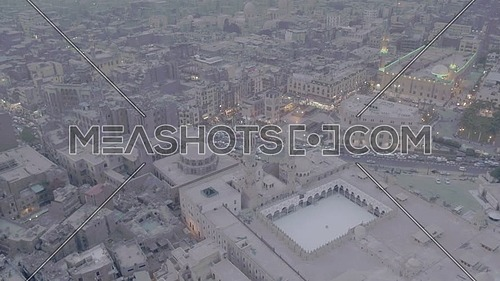 Fly in Shot for Al-Azhar Mosque reveals Cairo City by day