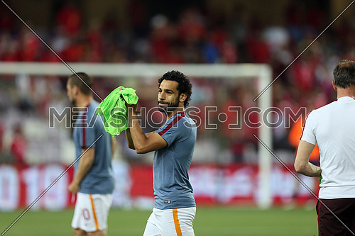 Mohamed Salah During the football match El ahly VS AS Roma in abudhabi UAE on 20 May 2016