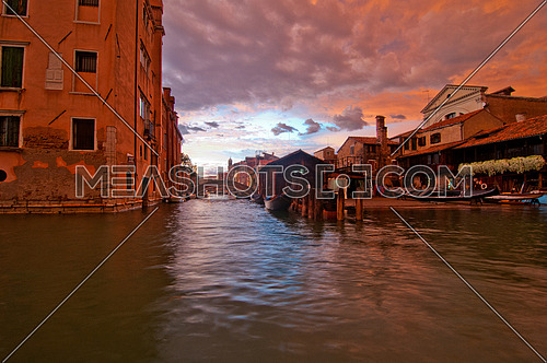 "San trovaso ""squero "" in Venice Italy is the place where gondolas and other boat are build and repaired"