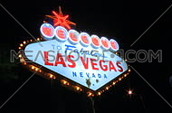 Las Vegas sign at night - fast pans (4 of 7)