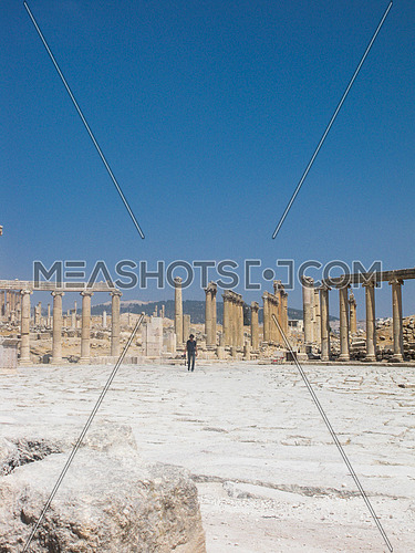 Roman historical site at Jarash, Jordan