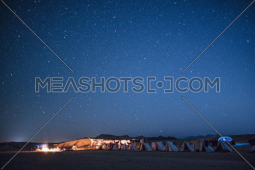 Camping under the stars in the desert