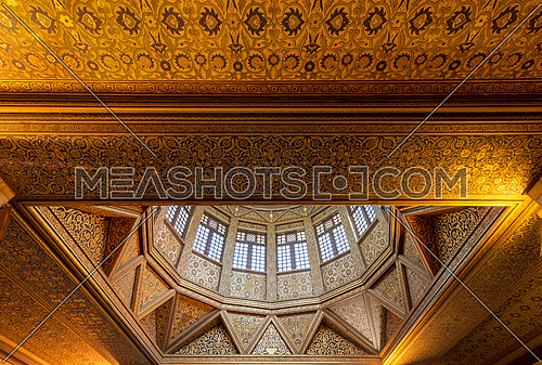 Ceiling of Nilometer building, an ancient Egyptian water measurement device dates from 715 AD, used to measure the level of the Nile, located in Rhoda Island, River Nile, Cairo, Egypt