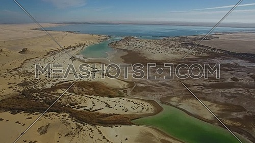 Fly Over The Magic Lake in Fayom (Egypt) at day