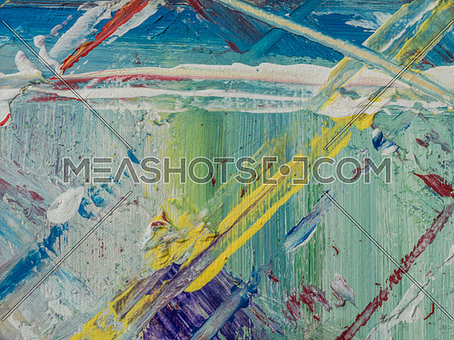 Oil Painting colorful close up texture. Canvas texture background