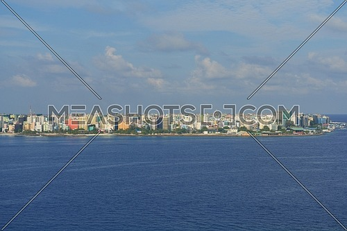 Islan Male city skyline Malideves capital arial